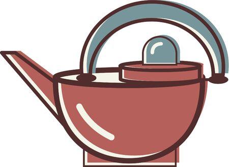Illustration of a tea kettle Reklamní fotografie - 14864867