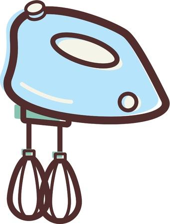 household appliances: Illustration of an egg beater