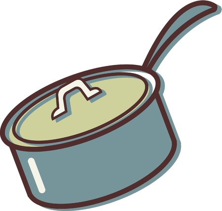 Illustration of a pot with a lid