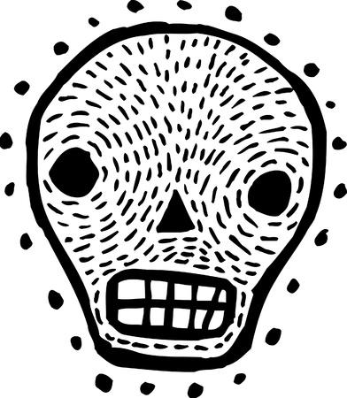 Black and white skull photo