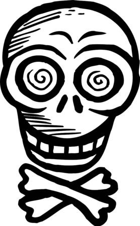 Black and white skull and crossbones Stock Photo - 14865093