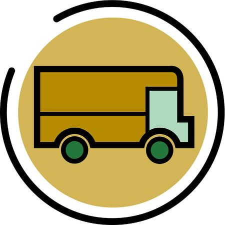 Illustration of a delivery truck Stock Illustration - 14865004