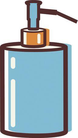 иллюстрация: Иллюстрация мыльный насоса Фото со стока