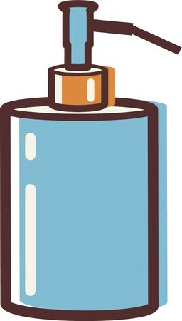 Illustration of a soap pump illustration