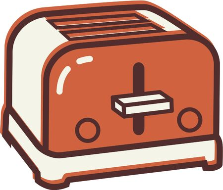 household goods: Illustration of a toaster