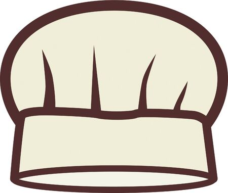 caterers: Llustration of a chefs hat