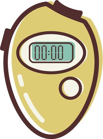 Illustration of a stopwatch Stock fotó