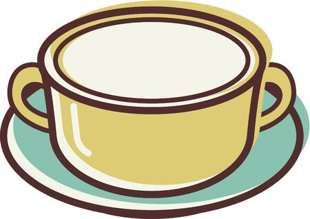 Illustration of a bowl Stok Fotoğraf