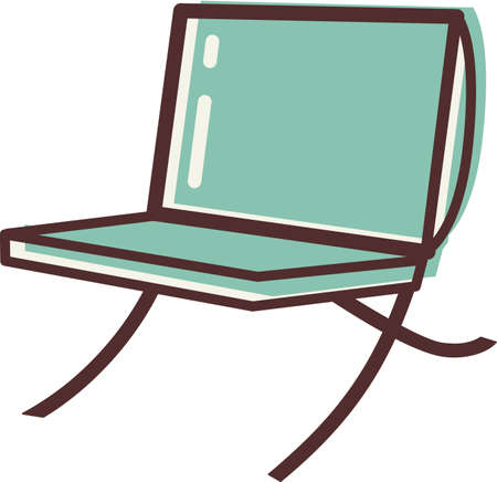 modern: Illustration of a modern chair Stock Photo
