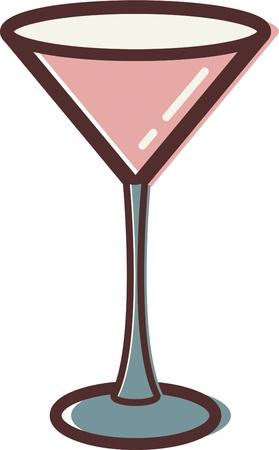 マティーニ グラスのイラスト