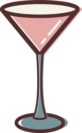 martini glass: Illustration of a martini glass