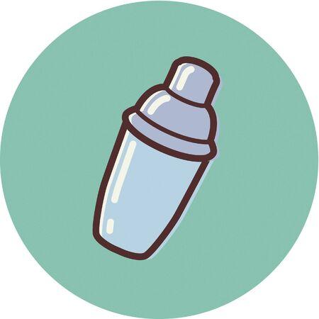 Illustration of a cocktail shaker Фото со стока