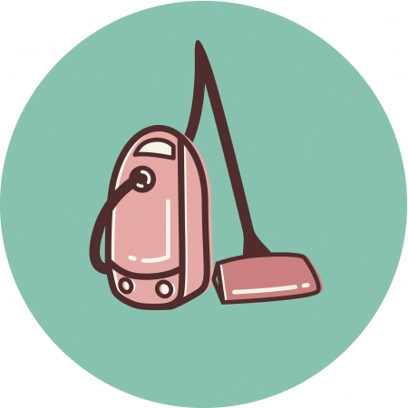 Illustration of a canister vacuum