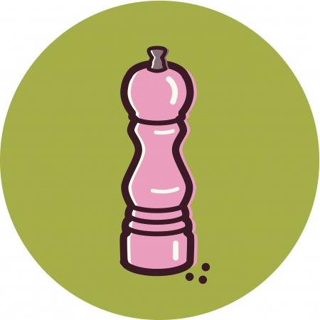 Illustration of a pepper mill Stock Illustration - 14864963