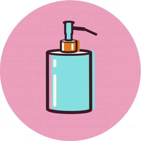 Illustration of a soap pump Stok Fotoğraf