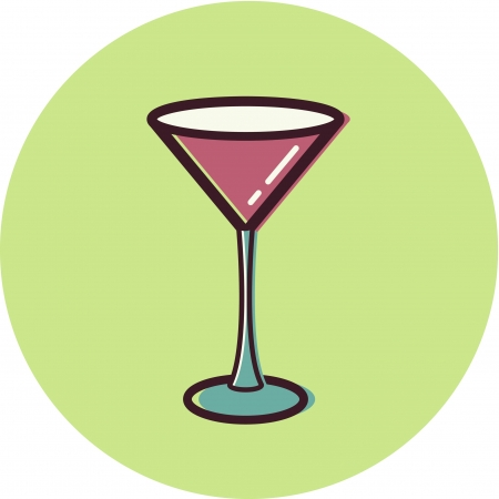 Illustration of a martini glass Stock Illustration - 14864957
