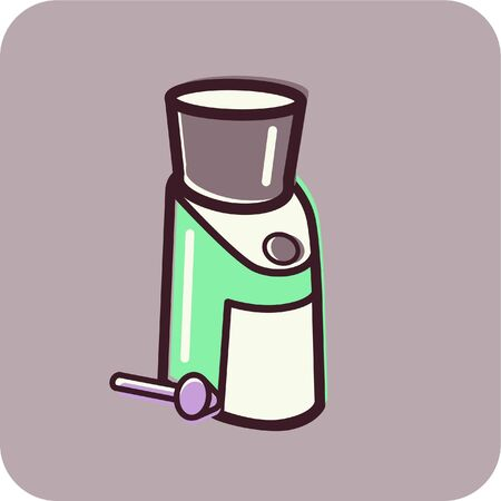 Illustration of a coffee grinder illustration