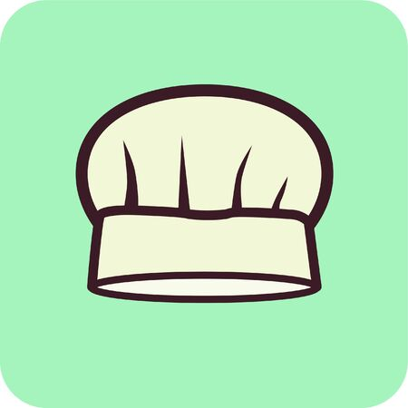 caterer: Illustration of a chefs hat Stock Photo
