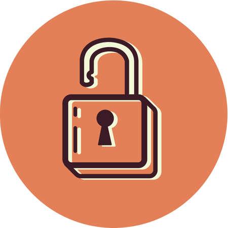 Illustration of an unlocked padlock Stock fotó