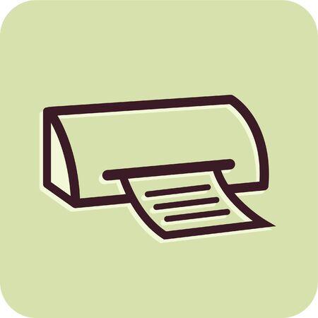 Illustration eines Faxgerätes Standard-Bild - 14864960