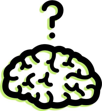 Illustration of a brain Banque d'images