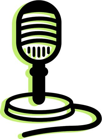 Illustration of an old fashioned microphone illustration