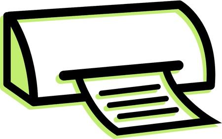Illustration of a printer illustration