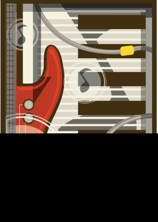 music: An illustration of musical instruments