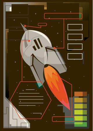 Een illustratie van een raket