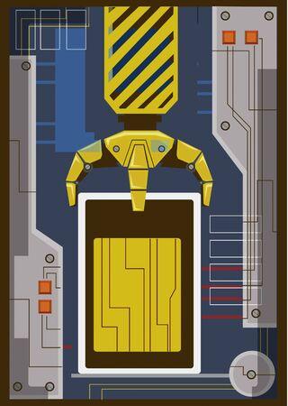 An illustration of a robotic arm moving Zdjęcie Seryjne