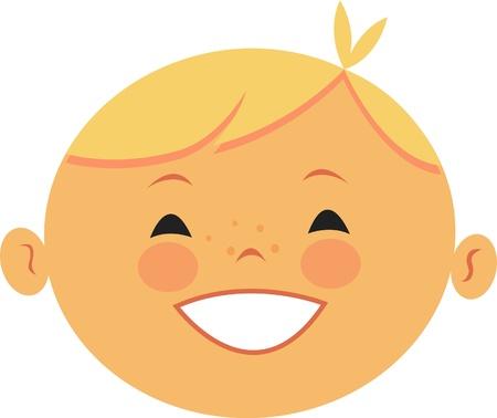 Illustratie van een blonde jongen Stockfoto
