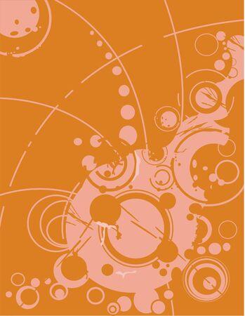 An orange background