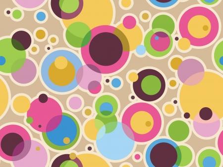 色の円を持つ層状パターン効果 写真素材