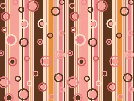 線とカラフルなパターンを作成する円の混合物