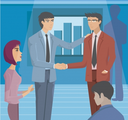 business communication: Two businessmen shaking hands