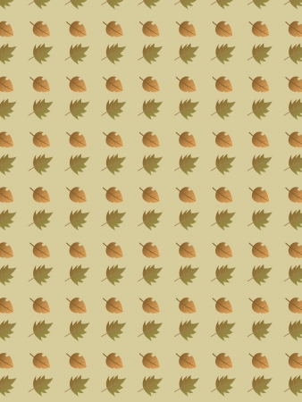 Een Herfstblad patroon