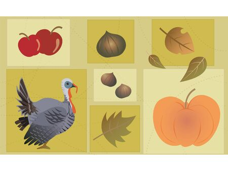 A Thanksgiving collage photo