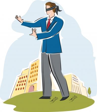 A businessman blindfolded Reklamní fotografie