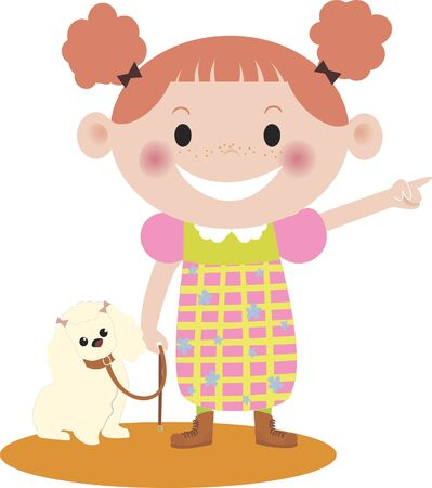 A girl and her dog Imagens