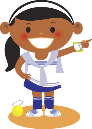 A girl wearing a tennis outfit Stock fotó
