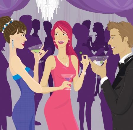 socializing: La gente de socializaci�n en una fiesta