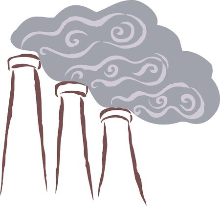 emitting: Vents emitting smoke; polluting the surrounding area
