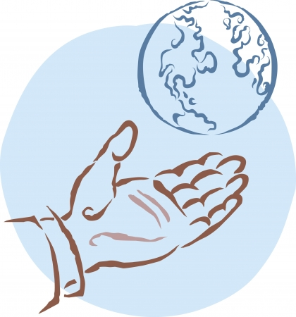 conserved: A hand reaching for the earth