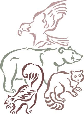 terrestrial mammal: A group of wild animals