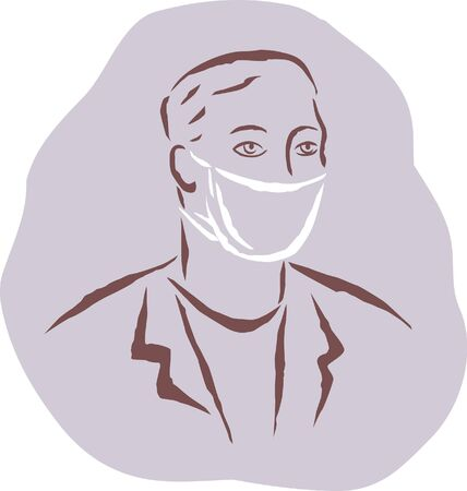 surgical mask: A man wearing a surgical mask
