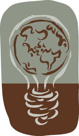 environmentally friendly: An environmentally friendly light bulb