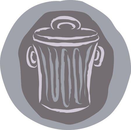 Un dessin d'une poubelle Banque d'images - 14909160