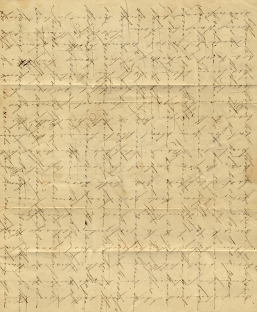 A vintage letter with faded handwriting and fold marks
