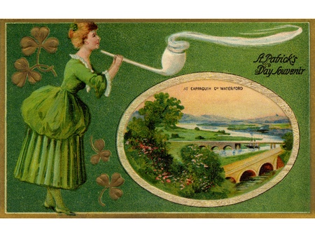 A vintage St. Patricks Day card photo