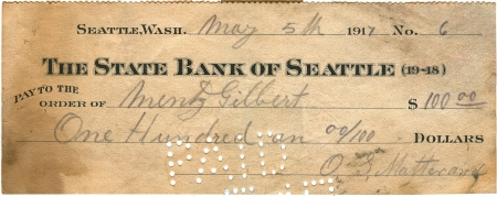 writing western: vintage cheque